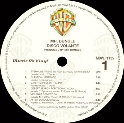 Mr Bungle Disco Volante Lp Netherlands Clear Vinyl