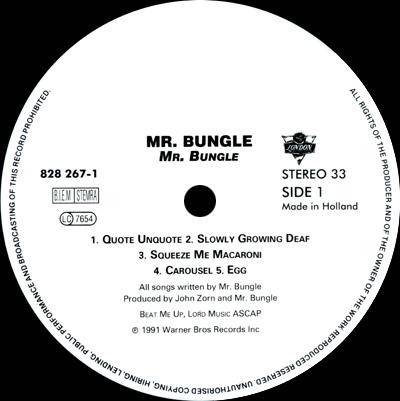 Mr Bungle Mr Bungle Lp Dutch Pressing